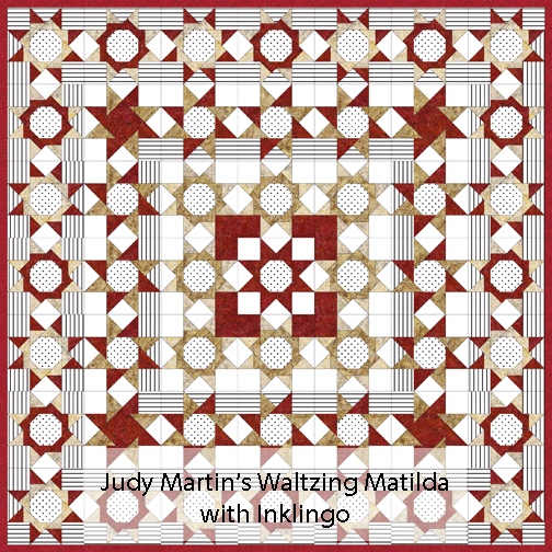 Judy Martin's Waltzing Matilda in a quilt setting