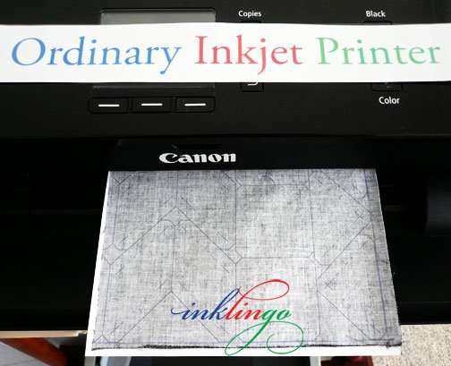 Print shapes on fabric with your ordinary Inkjet printer