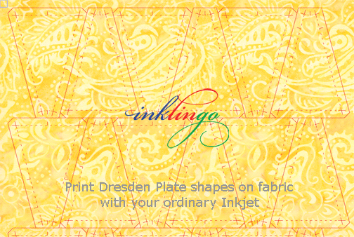 Print Dresden Plate shapes on fabric with Inklingo