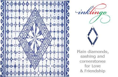 Quilted Diamonds setting shapes