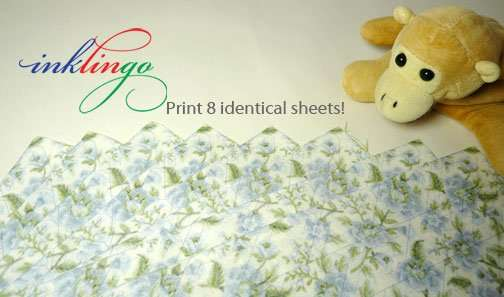 Print 8 identical sheets