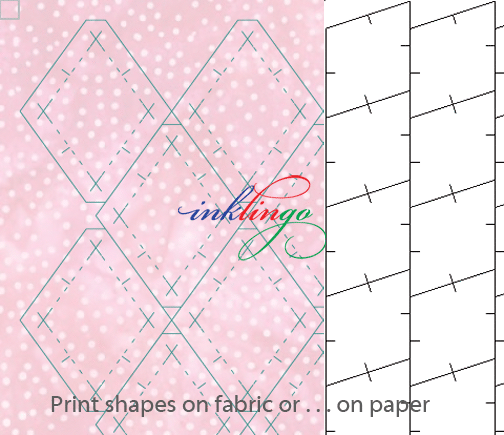 Print diamonds on fabric or on paper with Inklingo