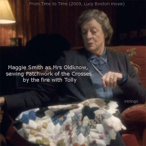 Maggie Smith sewing Patchwork of the Crosses
