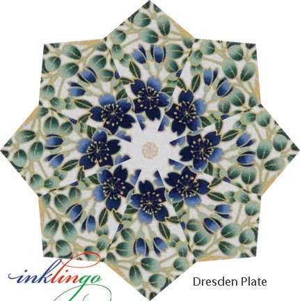 Inklingo Dresden Plate with Folded Blades