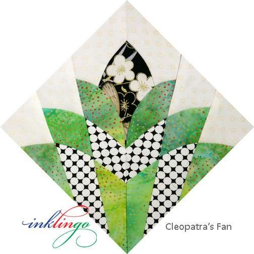 templates for cleopatra s fan quilt all about inklingo blog