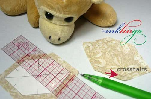 Draw the sewing lines manually