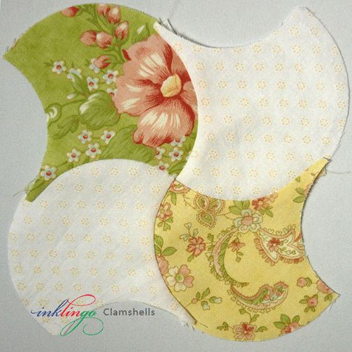 Clamshell Quilt 4 patches
