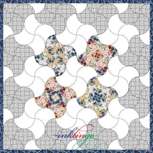 Fussy Cut Clamshell Quilt