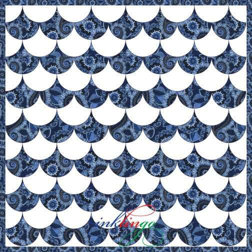 Traditional Clamshell Quilt Design