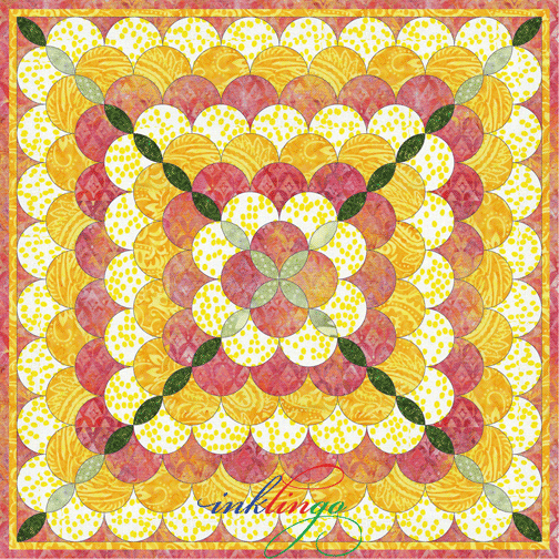 Clamshell Rose Quilt
