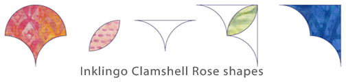 Inklingo Clamshell Rose templates