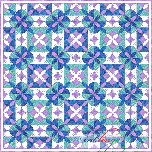 Inklingo Clamshell Rose quilt