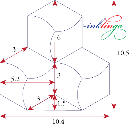 Dimensions of hexagon