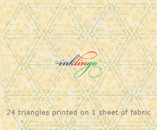 Print triangles on fabric with your Inkjet
