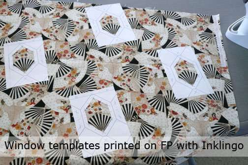 Window templates for fussy cutting