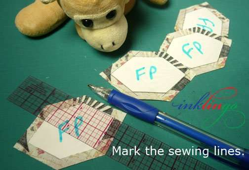 Mark sewing lines.
