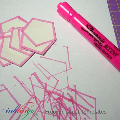 Use a hi-liter to mark the edges