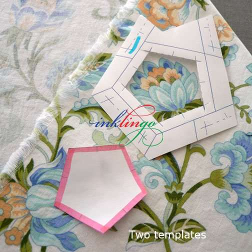 Window template and template without seam allowances