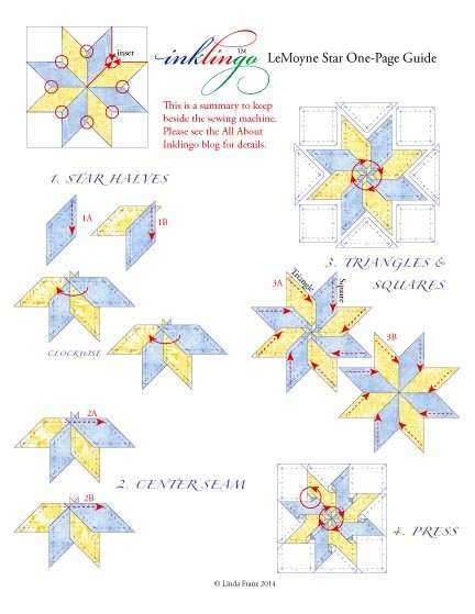 One Page Guide for 8-pointed stars