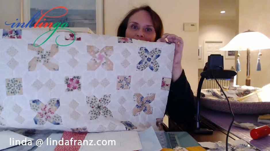 Patchwork of the Crosses wall hanging