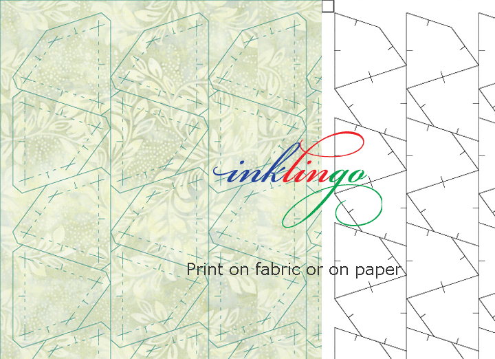 Print on fabric or on paper