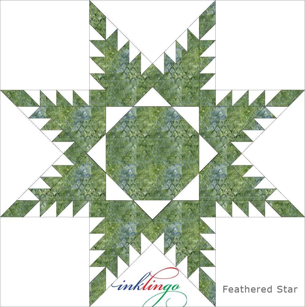 Feathered Star Quilt Shapes