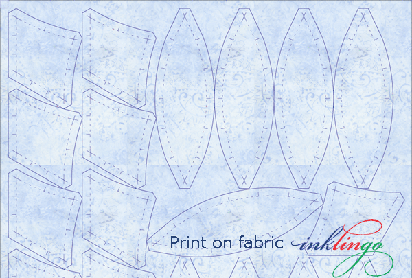 Print shapes on fabric for Golden Wedding Ring.