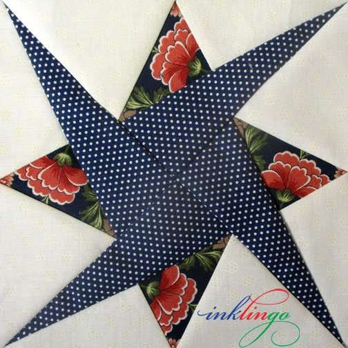 Fussy Cut Starry Path quilt