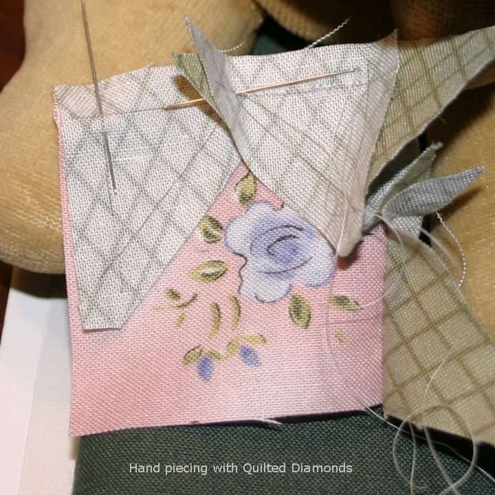 Quilted Diamonds hand pieced