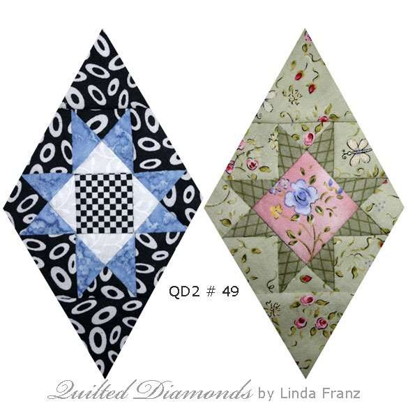 Quilted Diamonds 2 # 49 two variations