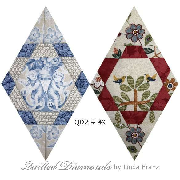 Quilted Diamonds 2 # 49 variations