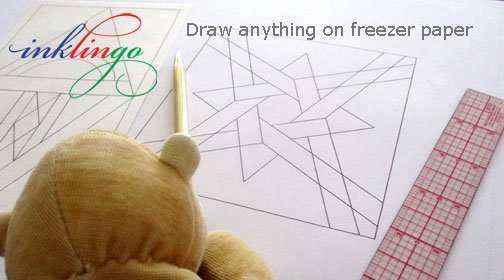 Draw anything on freezer paper