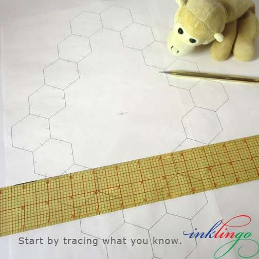 trace a ring of hexagons