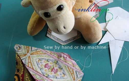 Use freezer paper templates and sew by hand or by machine
