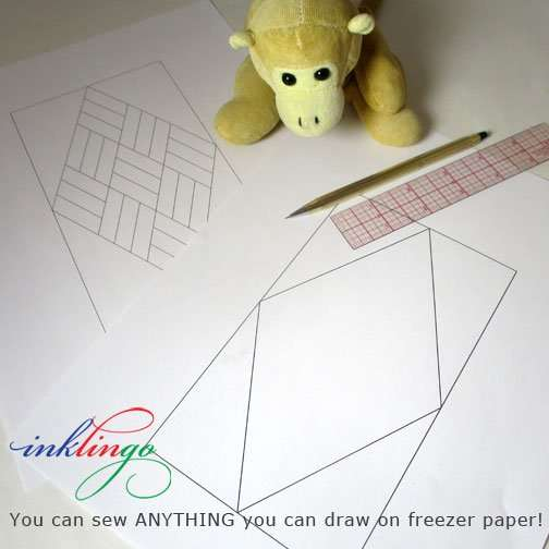 Draw Quilted Diamonds on freezer paper