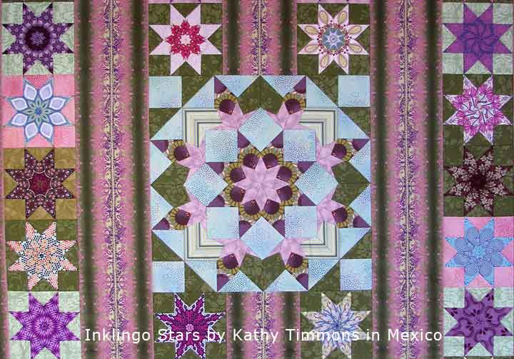 Star quilt by Kathy Timmons with Inklingo