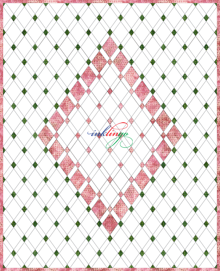 Setting for Quilted Diamonds