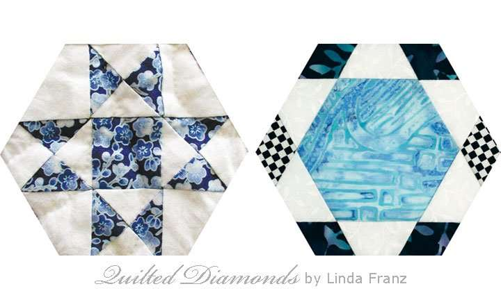 Quilted Diamonds # 49 as hexagons