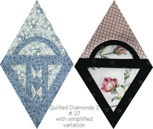 Quilted Diamonds 2 # 27 with simplified variation