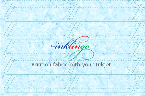 Print shapes on fabric for quilts