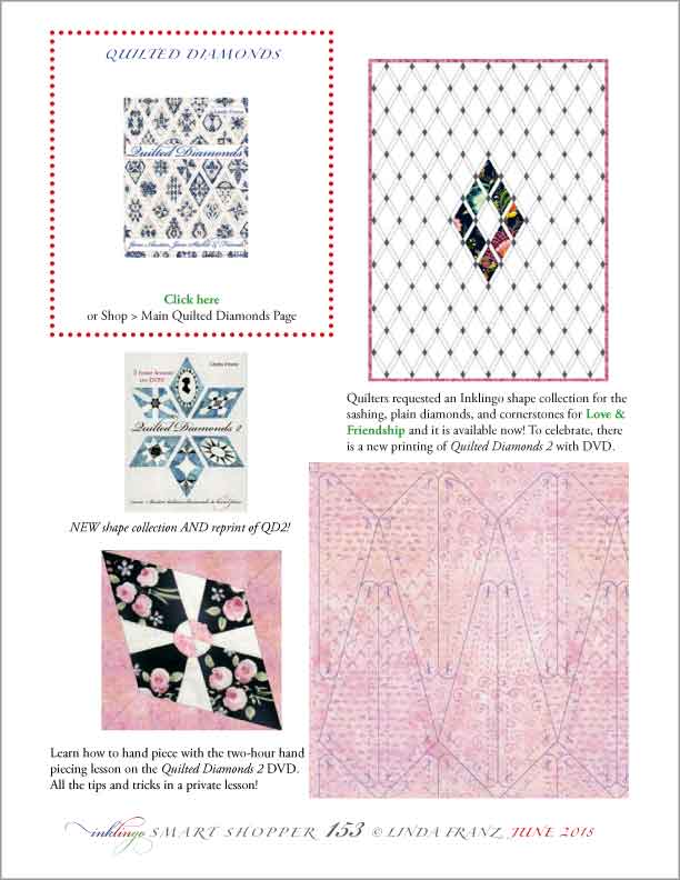 Inklingo and Quilted Diamonds