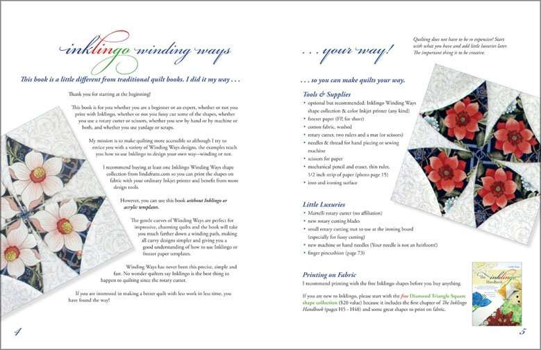 Winding Ways book sample pages