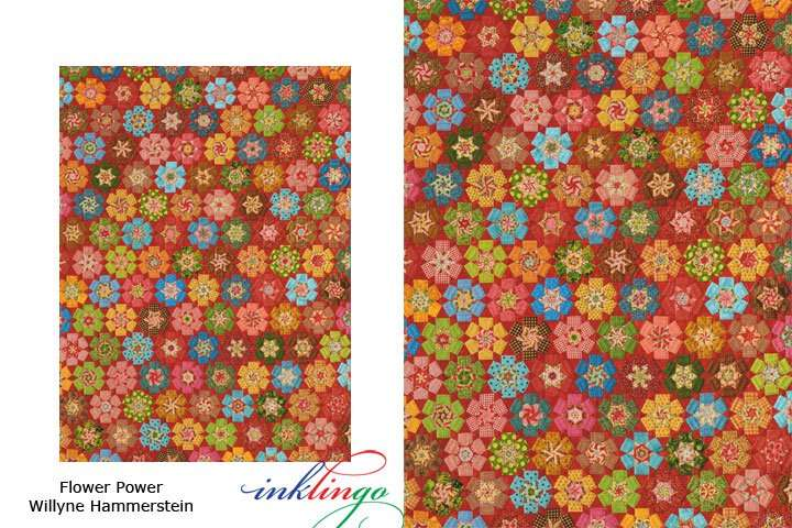 Flower Power quilt templates from Inklingo