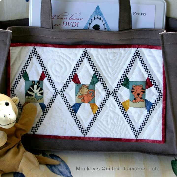 Monkey's Quilted Diamonds Tote
