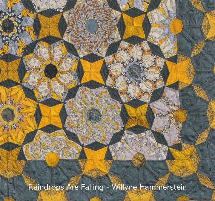 Raindrops are falling quilt