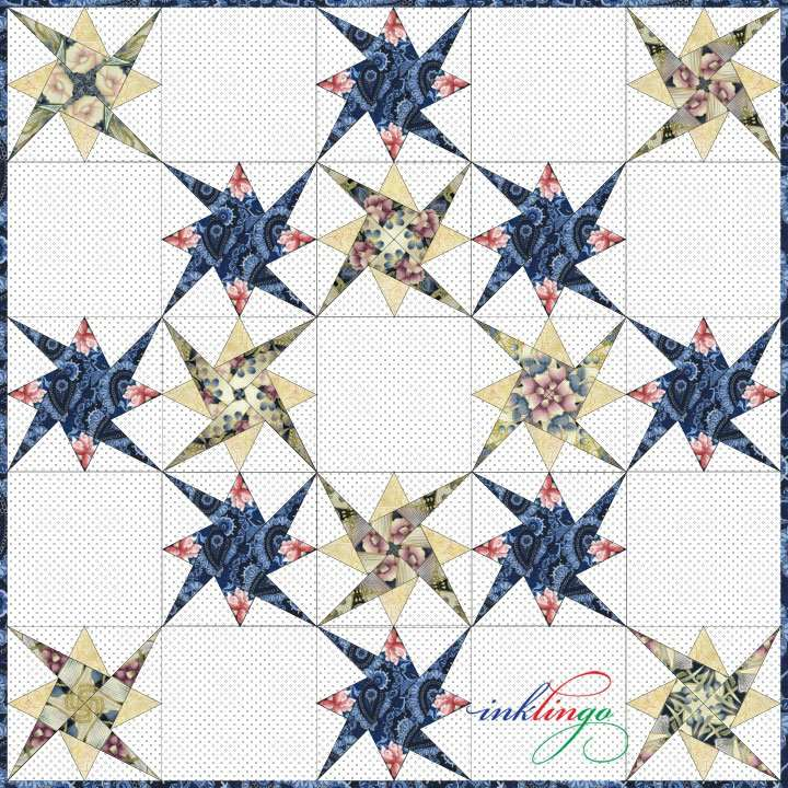 Starry Path quilt layout