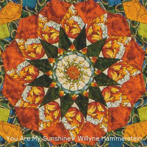 You Are My Sunshine Quilt close-up Willyne Hammerstein