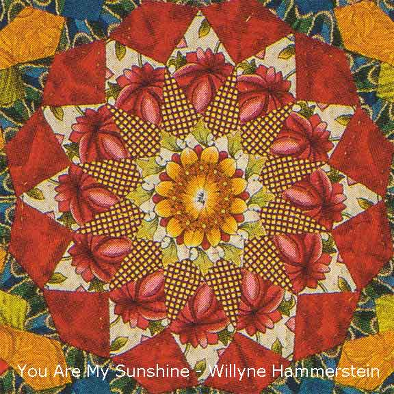 You Are My Sunshine Quilt close-up