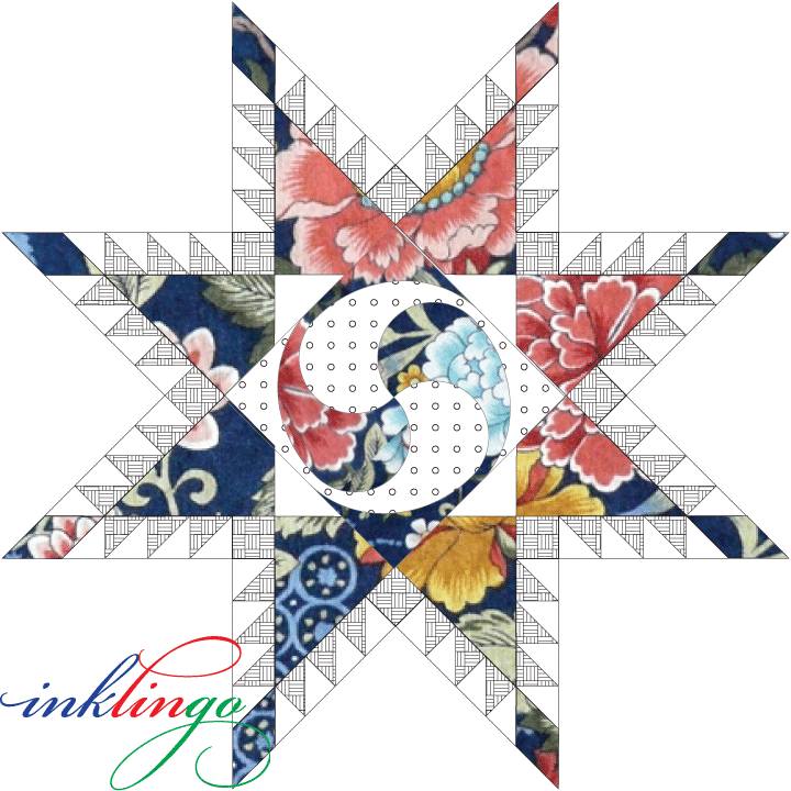 Inklingo Yin Yang with Feathered Star